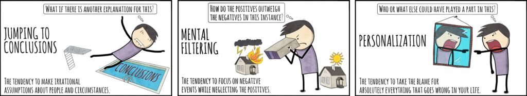 Cognitive distortions sabotaging your brain