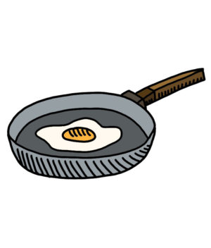 how to doodle frying pan