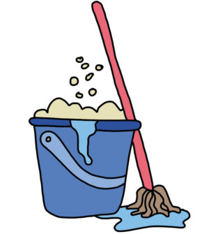 How to doodle Mop and Bucket