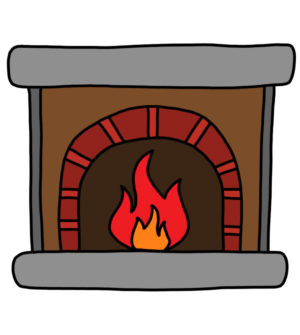 How to Doodle Fireplace